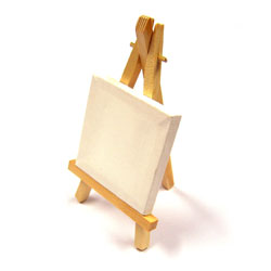 Mini Canvas with Easel - Pack of 10
