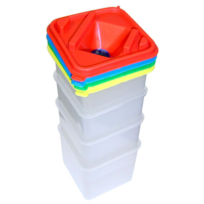 Square Water Pots - Set of 4 - MB7019PL-4