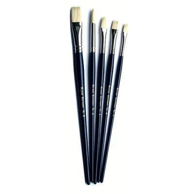 Hog Medium Blue Handle Brushes - Set of 5 - MB582-5