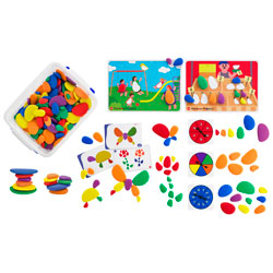 Rainbow Pebbles Classroom Pack - Set of 302
