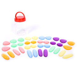 Clear Junior Rainbow Pebbles - Set of 36
