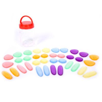 Clear Junior Rainbow Pebbles - Set of 36 - CD54109