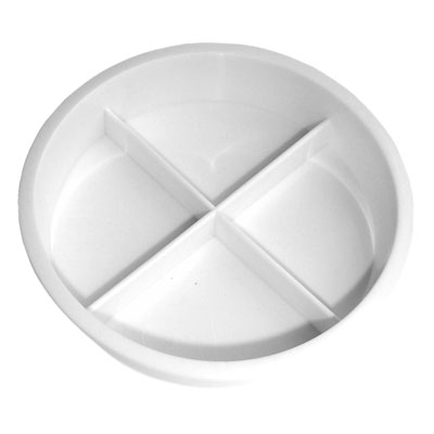 4 Division Plastic Saucer - Pack of 10 - MB7033-10