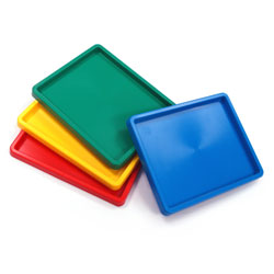 Coloured Inking Trays - 25cm x 20cm - Set of 4