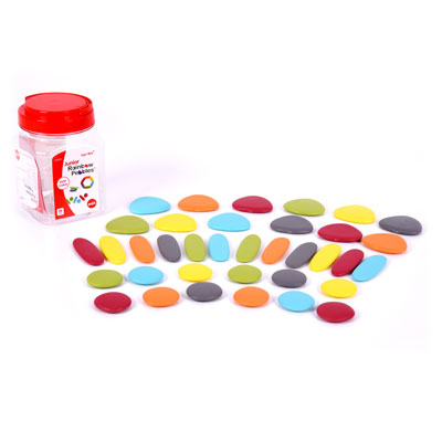 Junior Rainbow Pebbles Earth Colours - Set of 36 - CD75164