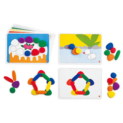 Junior Rainbow Pebbles Activity Set - Set of 36 Pebbles and 8 Activity Cards