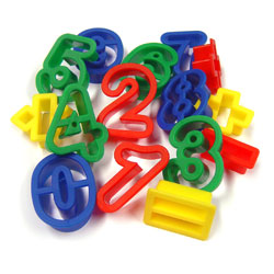 Numbers & Arithmetic Cutters - Set of 15