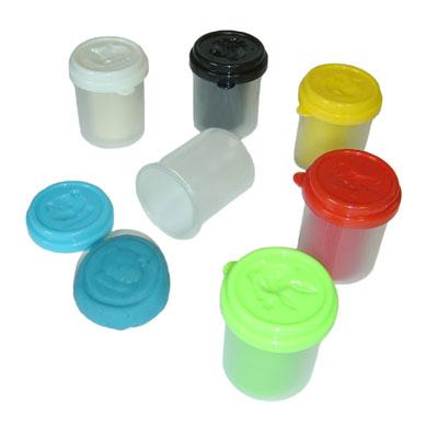 Coloured Dough - Set of 6 Pots - MB9000DO-6