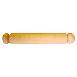 Small Smooth Wooden Rolling Pin - 21cm Length