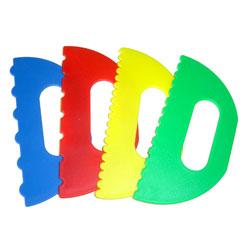 Plastic Paint Scrapers - Set of 4