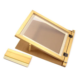 Hinged Screen Printing Frame - with Squeegee - A4 Size