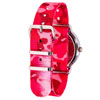 Easy Read Time Teacher Alloy Wrist Watch - White-Pink Face - Past & To - Pink Camo Strap - ERW-WP-PT-PC