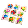 Wooden Animal Block Puzzles - Set of 3 - CD76005