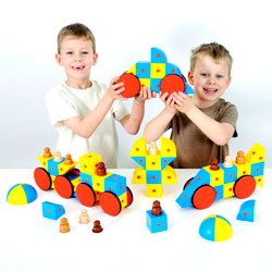 3D Magnetic Blocks Super Class Set - Set of 68