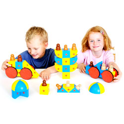 3D Magnetic Blocks Class Set - Set of 48