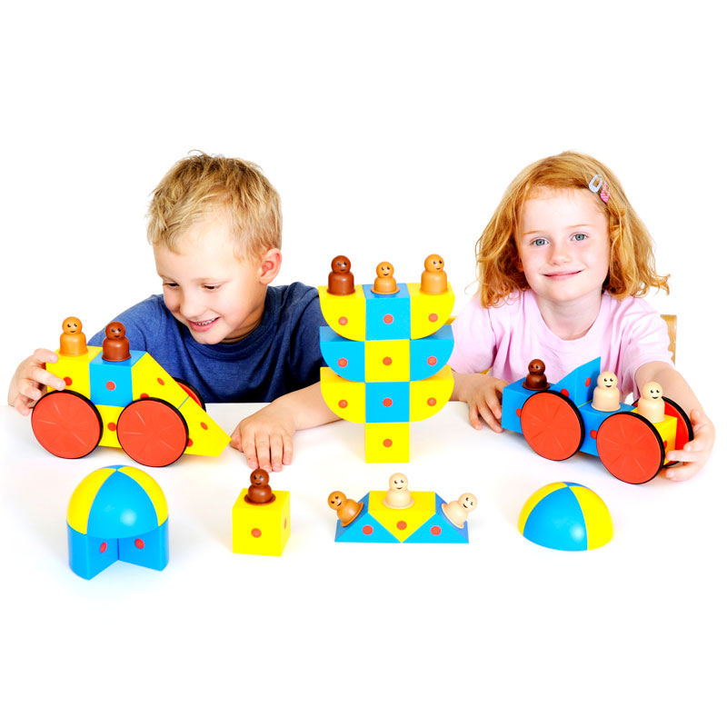3D Magnetic Blocks Class Set - Set of 48 - EA-98