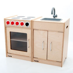 TickiT Wooden Cooker and Sink Set