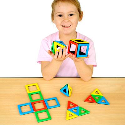 Magnetic Polydron Set - Set of 32 Pieces - 50-1000