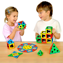 Magnetic Polydron Class Set - Set of 96 Pieces