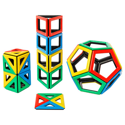 Magnetic Polydron Extra Shapes - Set of 48 Pieces - 50-1030