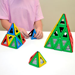 Magnetic Polydron Isosceles Triangles - Set of 60 Pieces