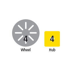 Magnetic Polydron Add-on Wheels - Set of 4 - 50-1065