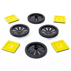 Magnetic Polydron Add-on Wheels - Set of 4