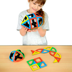 Magnetic Polydron Sphera Set - Set of 36 Pieces