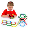 Magnetic Polydron Hexagon Set - Set of 20 Pieces - 50-3600