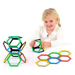 Magnetic Polydron Hexagon Set - Set of 20 Pieces
