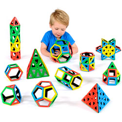 Magnetic Polydron School Set - Set of 224 Pieces
