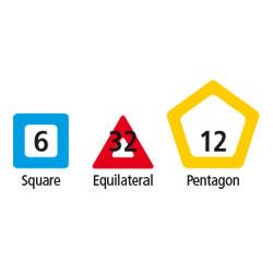 Magnetic Polydron Platonic Solids Set - Set of 50 Pieces - 50-5056