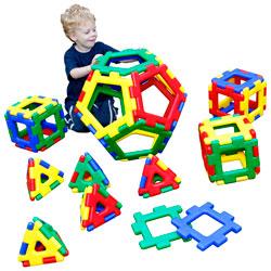 Giant Polydron Platonic Solids Set - Set of 52 Pieces