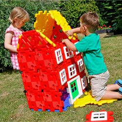 Giant Polydron House Builder Set - Set of 72 Pieces