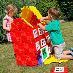 Giant Polydron House Builder Set - Set of 72 Pieces