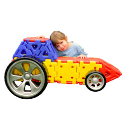 Giant Polydron Vehicle Builder Set - Set of 32 Pieces