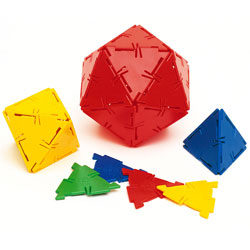Polydron Equilateral Triangles - Set of 100