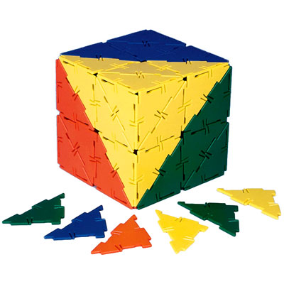 Polydron Right Angle Triangles - Set of 80 - 10-0302