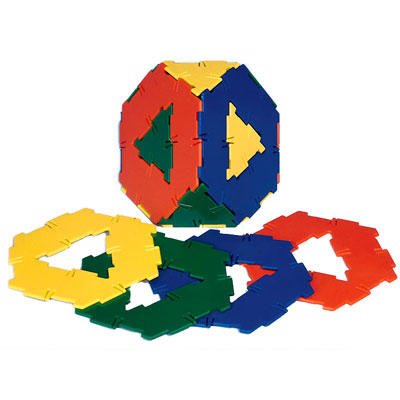 Polydron Hexagons with Cut-Out - Set of 20 - 10-0601