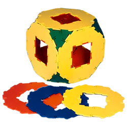 Polydron Octagons with Cut-Out - Set of 10