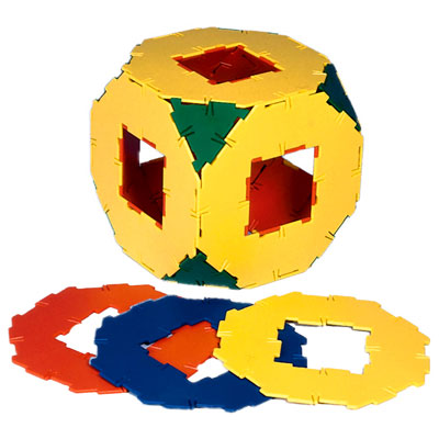 Polydron Octagons with Cut-Out - Set of 10 - 10-0800