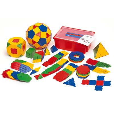 Polydron Primary Maths Set - Set of 414 Pieces - 10-3050