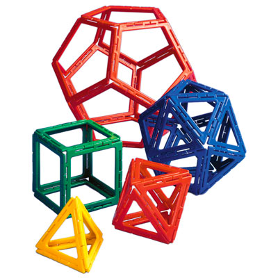 Polydron Frameworks Platonic Solids Set - Set of 50 Pieces - 10-3044