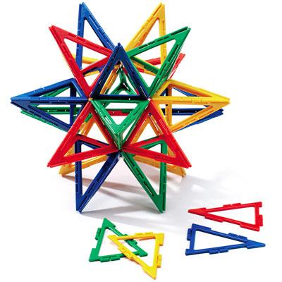 Polydron Frameworks Isosceles Triangles - Set of 80 - 10-F301