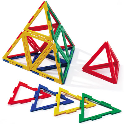 Polydron Frameworks Large Equilateral Triangles - Set of 60 - 10-F303