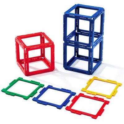 Polydron Frameworks Squares - Set of 80 - 10-F400