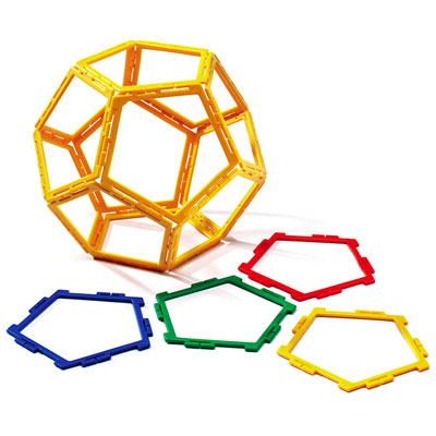 Polydron Frameworks Pentagons - Set of 40 - 10-F500