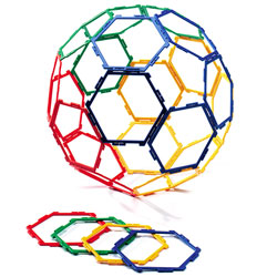 Polydron Frameworks Hexagons - Set of 30