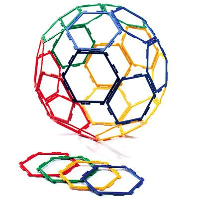 Polydron Frameworks Hexagons - Set of 30 - 10-F600