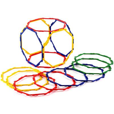 Polydron Frameworks Octagons - Set of 18 - 10-F800